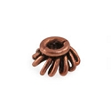 Designer Copper Bead Cap 7x3.5mm (2-Pcs)