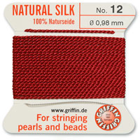 #12 Garnet Griffin Silk Bead Cord (2 Meters)