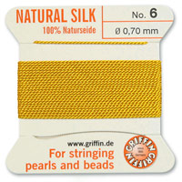 #6 Amber Griffin Silk Bead Cord (2 Meters)