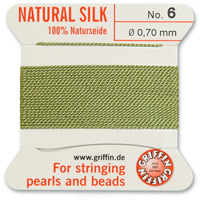 #6 Jade Griffin Silk Bead Cord (2 Meters)