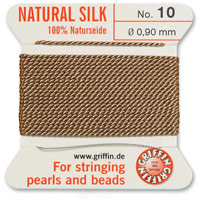 #10 Beige Griffin Silk Bead Cord (2 Meters)