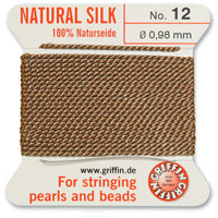 #12 Beige Griffin Silk Bead Cord (2 Meters)