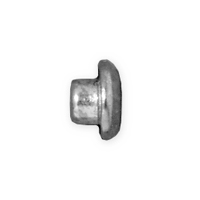 TierraCast 7mm Rhodium Plated Pewter Large Hole Bead Reducer (1-Pc)