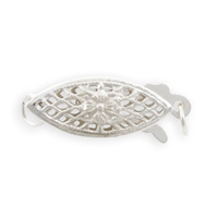 Filigree Clasp 16x7mm Sterling Silver (1-Pc)