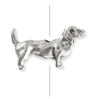 20mm Antique Silver Plated Pewter Daschund Bead (1-Pc)