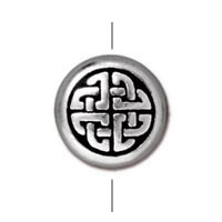 TierraCast Celtic Circle Bead 10mm Pewter Antique Silver (1-Pc)
