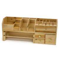 18 Inch Wood Bench Top Organizer