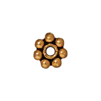 TierraCast 4mm Antique Gold Heishi Bead (4-Pcs)