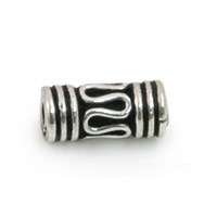 4x11mm Sterling Silver Bali Style Snake Tube Bead  (1-Pc)