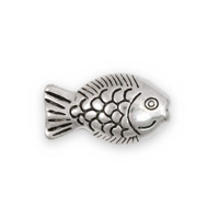 23x13mm Pewter Fish Bead (1-Pc)