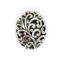 Filigree Pewter Beads