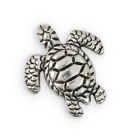 18x16mm Pewter Turtle Bead (1-Pc)
