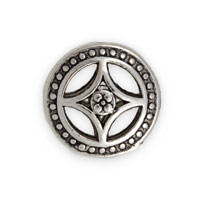 17x8mm Four Point Star Pewter Bead (1-Pc)