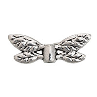 8x2mm Pewter Dragonfly Wings Bead (1-Pc)