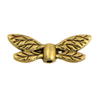 22x8mm Gold Plated Pewter Dragonfly Wings Bead (1-Pc)