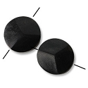 Cara Horn Beads Round Disc 17mm Black  (2-Pcs)