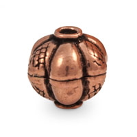 Designer Round Copper Bead 11x12mm (1-Pc)