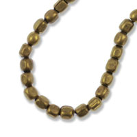 Heishi Cube Beads 2mm Antique Brass (24