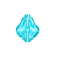 Swarovski Crystal 5058 10mm Aquamarine Baroque Bead (1-Pc)