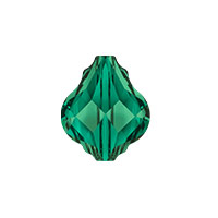 Swarovski Crystal 5058 10mm Emerald Baroque Bead (1-Pc)
