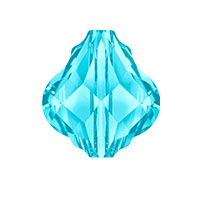 Swarovski Crystal 5058 14mm Aquamarine Baroque Bead (1-Pc)