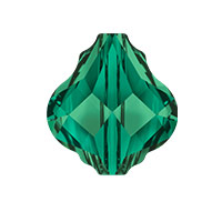 Swarovski Crystal 5058 14mm Emerald Baroque Bead (1-Pc)
