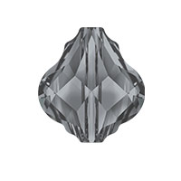 Swarovski 5058 14mm Crystal Silver Night Baroque Bead (1-Pc)