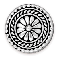 TierraCast 17.75mm Antique Silver Plated Large Bali Button (1-Pc)