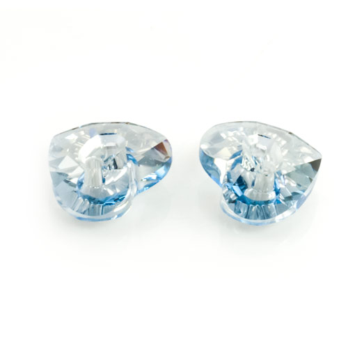 Swarovski crystal heart button 3023 16mm crystal blue - Swarovski crystal buttons ...