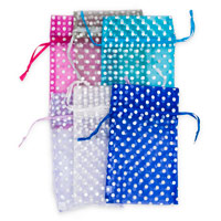 Assorted Polka Dot Pouches 4x5
