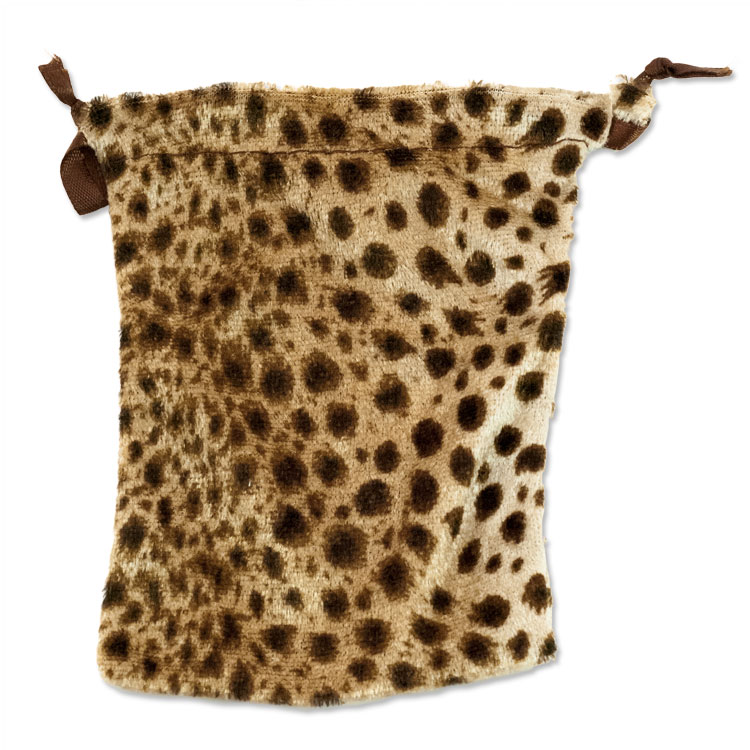 Velvet Drawstring Pouch Large Leopard - where to buy drawstring bags 44442ab6f6439