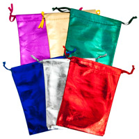 Assorted Metallic Pouches 4x5 (Dozen)