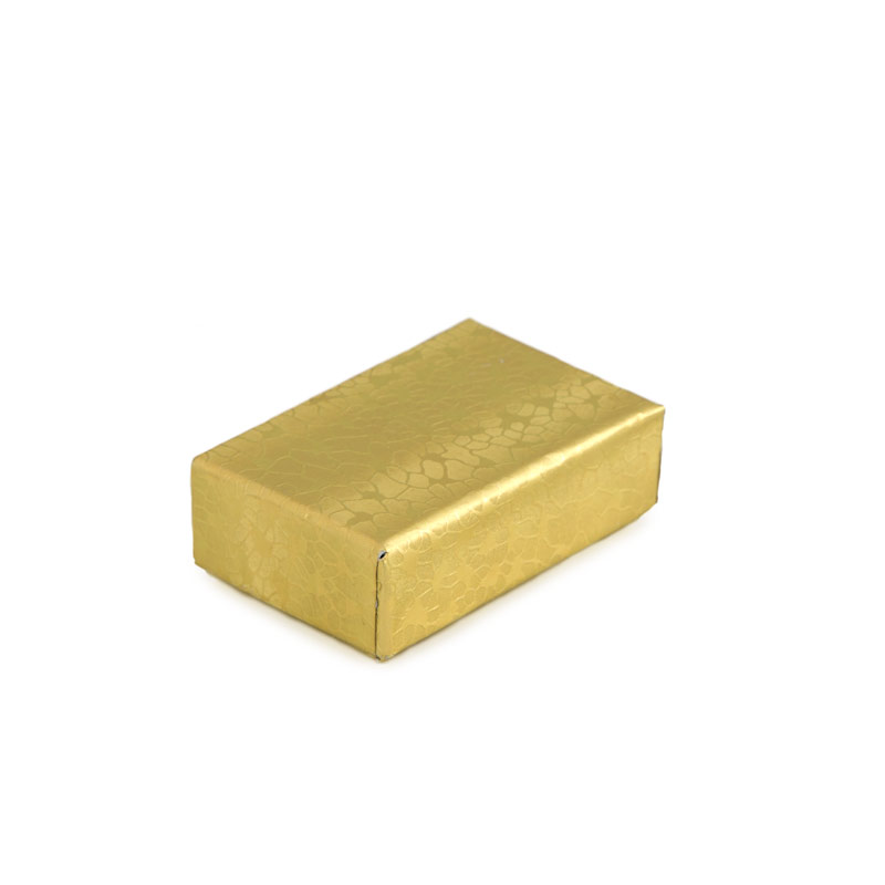 Gold Foil CottonFilled Jewelry Box 10 wholesale jewelry boxes