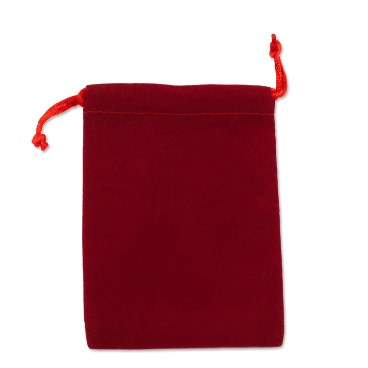 RED VELOUR JEWELRY GIFT POUCH