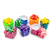 Mini Hat Boxes - Assorted Polka Dot Colors (48-Pcs)