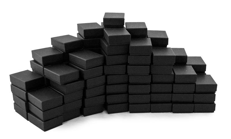 buy jewellery box Black Cotton Filled Jewelry Box B21