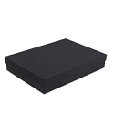 Matte Black Cotton Filled Jewelry Box #B75