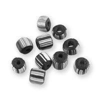 Ghana Glass Chevron Bead 5-6mm Black/White (10-Pcs)