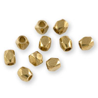 Heishi Cube Beads 4mm Brass (10-Pcs)