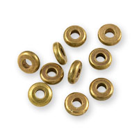 Heishi Disc Beads 4mm Brass (10-Pcs)