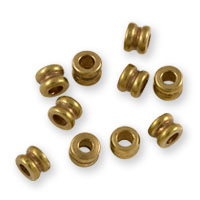 Heishi Spool Beads 3mm Brass (10-Pcs)