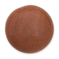 Goldstone Round Cabochon 25mm Synthetic