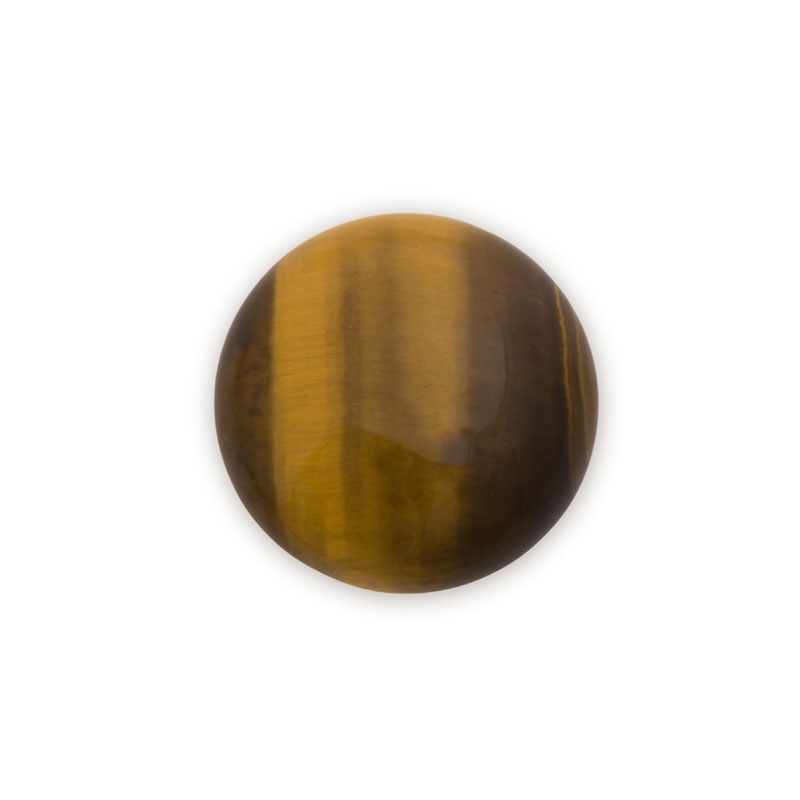 25mm Brown Tiger Eye Round Cabochon Cabochon Jewelry