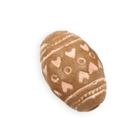 Terra Cotta Bead 12X20mm Oval (3-Pcs)