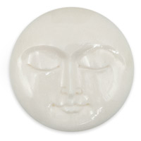 Moon Face Bone Cabochon 30mm