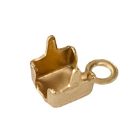 Cup Chain End Connector 3mm Gold Plated (2-Pcs)
