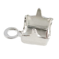 Cup Chain End Connector 4mm Silver Plated (2-Pcs)