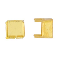 6mm Square Gold Plated Flat Memory Wire Cup (12-Pcs)