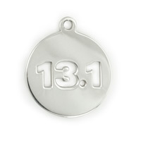 13.1 Mile Half Marathon Charm 17mm Sterling Silver