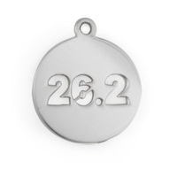 26.2 Mile Marathon Charm 17mm Sterling Silver